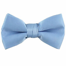 New KID'S BOY'S 100% Polyester Pre-tied Bow tie only light blue formal wedding
