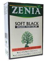 Zenia Organic Henna Hair Color Soft Black 100g