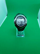 unisex esecure heart/pulse rate gym monitor digital watch in black & chrome.#bm.