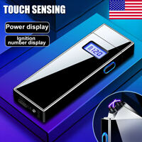 Flameless Double Arc Electric Lighter Plasma Windproof USB Rechargeable Lighters