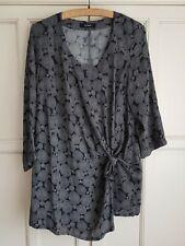 Smart black & white maternity tunic top, immaculate! UK size 14 16 18