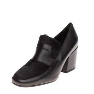 RRP €240 VIC MATIE Leather & Calf Hair Court Shoes EU 37 UK 4 US 7 Made in Italy