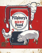 PILLSBURY'S BEST FEED ADVERTISING METAL SIGN