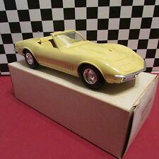1968 Chevrolet Corvette Convert,1/25 scale, Dealership promotional model,Yellow