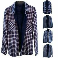 Mens Faux Seude Lined Lumber Jack Collared Extra Warm Fleece Checked Gents Shirt