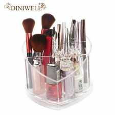 Makeup Brush Storage Box Plastic Transparent Heart Shaped Lipstick Holder Box