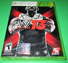 WWE '13 Microsoft Xbox 360 *Factory Sealed! *Free Shipping!