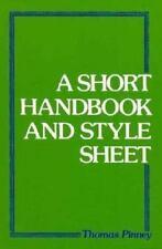Short Handbook and Style Sheet