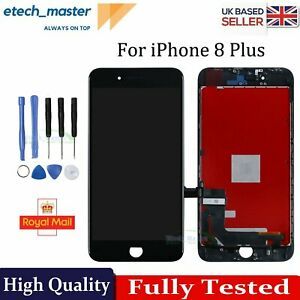 For iPhone 8 Plus LCD Display Retina 3D Touch Screen Digitizer Replacement Black
