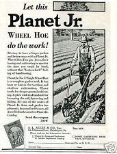 1931 SL Allen & Co Planet Jr No. 17 Single Wheel Hoe Vintage Print Ad