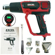 Electronic Heat Gun Hot Air Gun LCD Variable Temperature Digital Display - 2000W