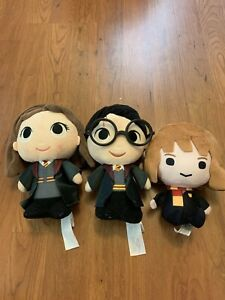 Harry potter lot of 3 plush characters ron, hermoine, harry funko and yume