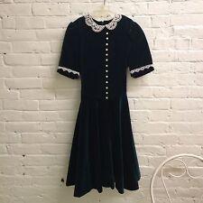 Vintage American Girl Pleasant Co. GIRL size 16 green velvet dress retired Molly