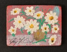 Vintage MINIATURE Floral Still Life MODERN ART PAINTING / Artist JAY F ORD