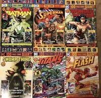 Batman #8 Superman #8 WALMART DC 100 PAGE GIANT Titans Flash Swamp WW #1 SET