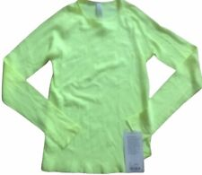 NWT LULULEMON Light Speed Long Sleeve Top Size S Ray Yellow Green Running $84