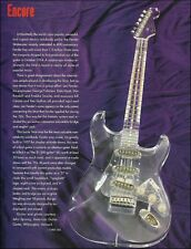 Fender '57 Strat 1957 Lucite Plexi-Glass Stratocaster guitar history article