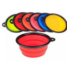 Portable Travel Collapsible Pet Dog Bowl for Food & Water Bowls Dishes Foldable