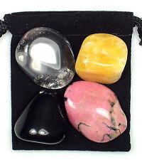 JOINT REPAIR Tumbled Crystal Healing Set = 4 Stones + Pouch + Description