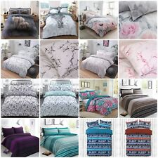 Duvet Cover with Pillowcase Quilt Cover Polycotton Bed Set Single Double King