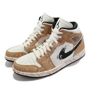 Nike Air Jordan 1 Mid SE AJ1 Brushstroke Paint Splatter Men Casual DA8005-100