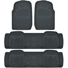 Full Set Floor Mats for Honda Odyssey 4 Piece 3 Row Black Semi Custom Fit