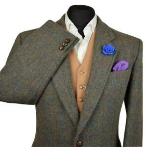Harris Tweed Tailored Country Blazer Jacket 40R #952 SUPER RARE WEAVE