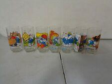7 1982 Smurfs Glasses