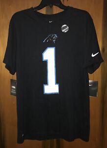 Nwt Men's Nike Cam Newton Carolina Panthers Nike Dri-fit T shirt. Medium & Black