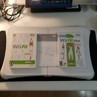Nintendo Wii Fit Balance Board Wii Plus Bundle Clean Tested Complete Manual