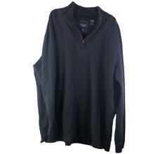 Chaps Mens XL Gray Cotton Blend Long Sleeve Quarter Zip Pull Over Sweater