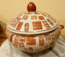 Pair of Vintage Chinese Soup Pot Marked hand painted in excellent condition .