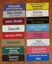 Engraved 64x19mm Name Badges Magnetic Fastener (21 New Colours)