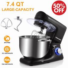 Pro Electric Food Stand Mixer 6-Speed 7-QT Tilt-Head 660W Kitchen w/ Bowl Black