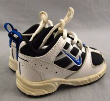 Nike Lil Attest Toddler Athletic Shoes 3C Baby Kids Sneakers 317997 White Blue