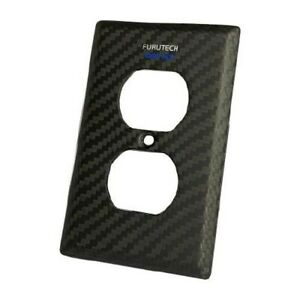 FURUTECH 106-D NCF nano-crystal Carbon-Fiber outlet Cover from Japan