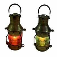Nautical Marine Electric Ship Lantern Maritime Vintage Boat Lamp Decor~Set of 2