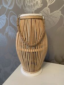 Bamboo Wood Candle Lantern Home Garden Decoration