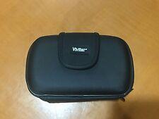 "Vivitar Black Hard Shell Camcorder Video Camera Case Bag 5.4x2.8x3.2"""