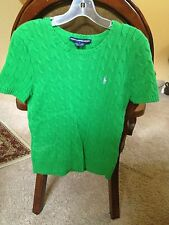 NWOT Ralph Lauren Sport Cable Link Sweater Top L