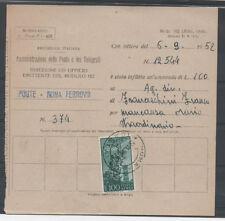 1952 ITALY REPUBBLICA 100 LIRE SU MOD 162 ROMA 19/11 A/4927
