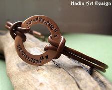 Custom Mens Bracelet, Longitude Latitude Bracelet. ID Mens Leather Bracelet