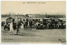automobiles anciennes .old cars DEAUVILLE LES TENNIS.
