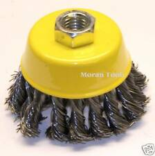 """Twist Knot Cup Wire Brush Wheel 3"""" 75mm for 115mm - 4-1/2"""" Angle Grinder"""