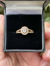 18ct Rose Gold Oval Diamond Stone Engagment Ring Fancy Shoulder 0.60ct Size M