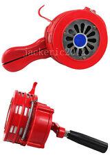 HANDHELD LOUD HAND CRANK MANUAL OPERATED AIR RAID ALARM PORTABLE SIREN RED-L1086
