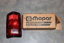 NOS MOPAR Dodge Lamp Tail Stop Turn Signal Side Marker Taillight Lens 4357575