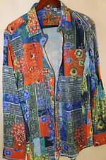 #50 Robert Graham Floral Print Sports Shirt Size XL   RETAIL $248