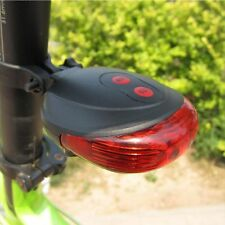 Flashing Tail Rear Cycling Light Warning Bicycle Laser Taillights 5LED 2Laser