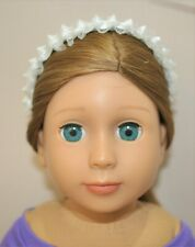 Fits American Girl Our Generation Journey 18 Dolls Clothes White Lace Headband
